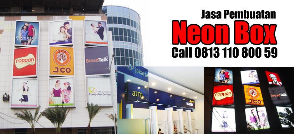 Harga Neon Box – Neon Box Murah – Jasa Pembuatan Neon Box